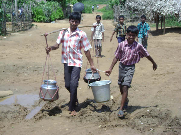 Fetching Water in a Village