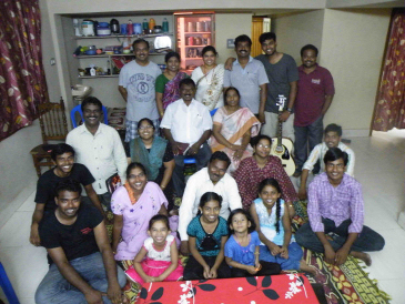 Pastor Prasad, with his family